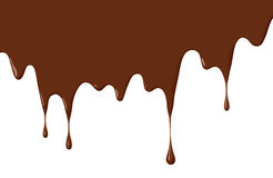 Chocolate drips royalty free illustration
