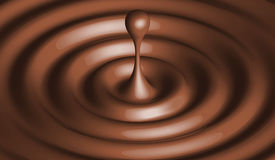 Chocolate Drop Stock Photography