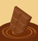 Chocolate drop Royalty Free Stock Images