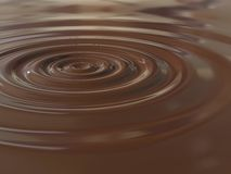 Chocolate drop. Chocolate circles generated by a drop royalty free stock photo