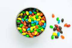 Chocolate drops in a jar Royalty Free Stock Photo