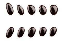 Chocolate drops Stock Image