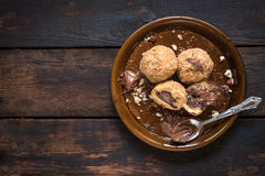 Chocolate dumplings Royalty Free Stock Image