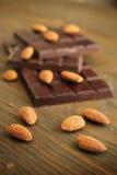 Chocolate e amêndoa fotos de stock