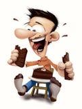 Chocolate e bolo antropófagos felizes Imagem de Stock Royalty Free
