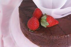 Chocolate e bolo das frutas Imagens de Stock Royalty Free