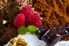 Chocolate e Kaffe Fotografia de Stock Royalty Free