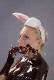 Chocolate easter Stock Photography