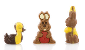 Chocolate easter animals Royalty Free Stock Photography