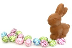 Chocolate Easter Bunny Royalty Free Stock Images