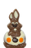 Chocolate easter bunny Stock Photos
