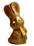 Chocolate Easter Bunny. On white background stock photography