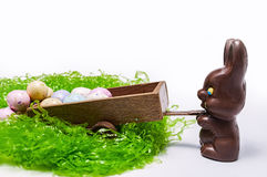Chocolate Easter bunny,candy,eggs Royalty Free Stock Photography
