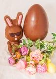 Chocolate Easter Bunny. Royalty Free Stock Photos