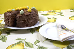 Chocolate Easter cake Royalty Free Stock Photography