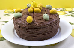Chocolate Easter cake Stock Photo