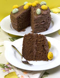 Chocolate Easter cake Stock Photography