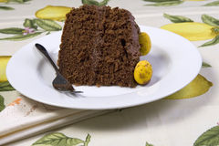 Chocolate Easter cake Stock Image