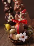 Chocolate easter egg Stock Photography