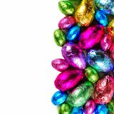 Chocolate Easter egg border Royalty Free Stock Photo