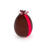 Chocolate Easter egg with a bow Stock Images