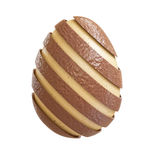 Chocolate easter egg. Chocolate and classic egg 3d rendering image Royalty Free Stock Images