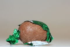 Chocolate easter egg close-up Royalty Free Stock Images
