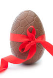 Chocolate easter egg Royalty Free Stock Images