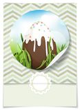 Chocolate Easter Egg. Royalty Free Stock Images
