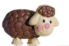 Chocolate Easter Egg Lamb Royalty Free Stock Photography