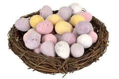 Chocolate Easter Egg Nest Stock Photos
