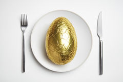 Free Chocolate Easter Egg On Plate Royalty Free Stock Image - 29599696