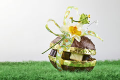 Chocolate Easter Egg and praline Royalty Free Stock Photography