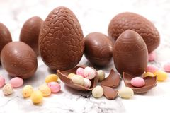 Chocolate easter egg. Studio shot Royalty Free Stock Image