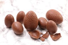 Chocolate easter egg. Studio shot Royalty Free Stock Images