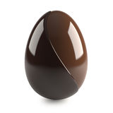 Chocolate easter egg on white background Stock Photos