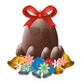 Chocolate easter egg. White isolated Royalty Free Stock Images