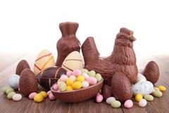 Chocolate easter egg Stock Photos