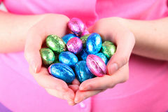 Chocolate Easter Eggs Stock Photography