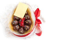 Chocolate Easter eggs Royalty Free Stock Images