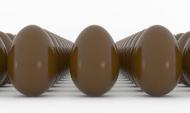 Chocolate Easter Eggs Stock Photos
