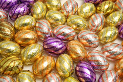 Chocolate Easter Eggs. Traditional Dutch Chocolate Easter Eggs royalty free stock photography