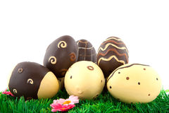 Chocolate easter eggs Royalty Free Stock Photos