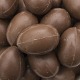 Chocolate easter eggs close up Royalty Free Stock Image