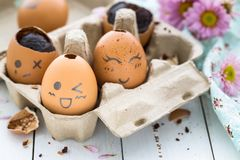 Chocolate Easter Eggs. Delicious Chocolate Easter Eggs for an Happy Easter Stock Images
