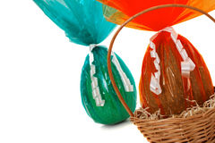 Chocolate Easter Eggs detail from corner Royalty Free Stock Photography