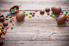 Chocolate Easter Eggs Royalty Free Stock Photography