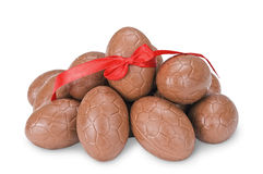 Chocolate eggs Royalty Free Stock Photography