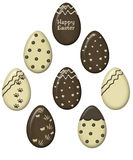Chocolate easter eggs vector Royalty Free Stock Images