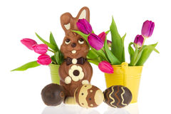 Chocolate Easter Hare Royalty Free Stock Photography